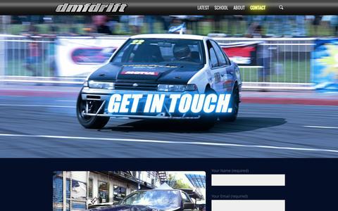Screenshot of Contact Page dmfdrift.com - Get in Touch - DMF Drift - captured Oct. 27, 2014