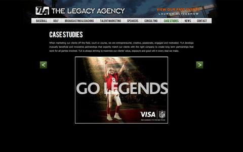 Screenshot of Case Studies Page legacy-agency.com - The Legacy Agency - captured Oct. 26, 2014