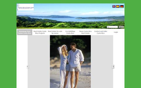 Screenshot of Home Page real-estatecostarica.com - Homepage Real Estate Costa Rica - Real Estate Costa Rica - captured Oct. 3, 2014