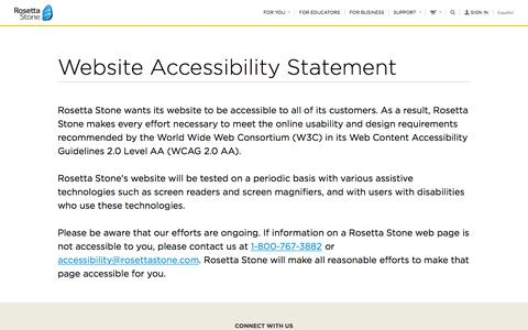 Website Accessibility Statement
