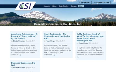 Screenshot of Blog 4cesi.com - Blog - Cascade e-Commerce Solutions Inc - captured July 17, 2017