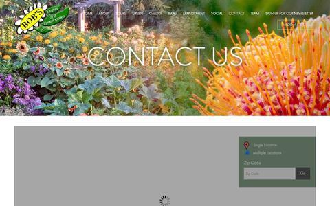 Screenshot of Contact Page bobsmarket.com - Contact - Bob's Market And Greenhouses Inc. - captured Oct. 5, 2014
