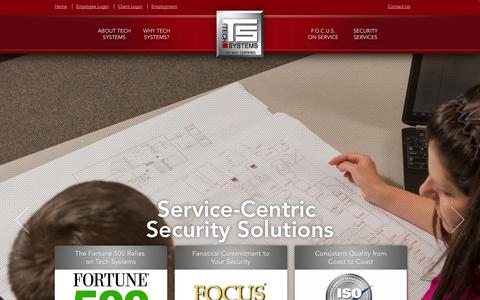 Screenshot of Home Page techsystemsinc.com - Home › Tech Systems, Inc.Tech Systems, Inc. ‹ Security System Integrators – Design, Installation and Service - captured Oct. 1, 2014