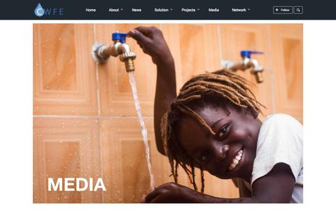 Screenshot of Press Page cwfe.org - Media - Clean Water for Everyone 	 	| Clean Water for Everyone - captured Oct. 2, 2014