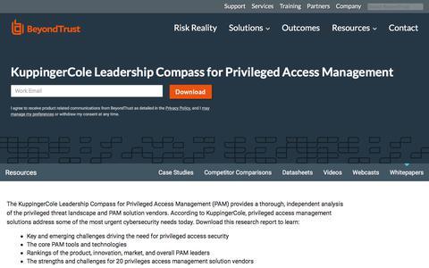 Screenshot of Team Page beyondtrust.com - KuppingerCole Leadership Compass for Privileged Access Management | BeyondTrust - captured Jan. 3, 2020