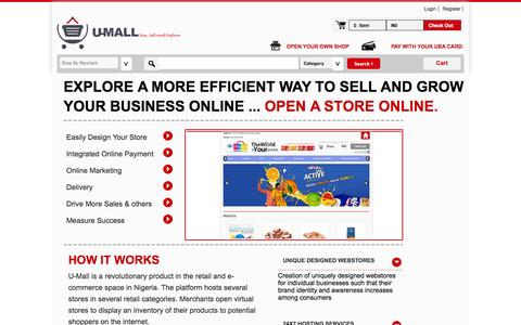 Screenshot of About Page umall.com.ng - e-commerce solution for SMEs in Nigeria - captured Sept. 19, 2014