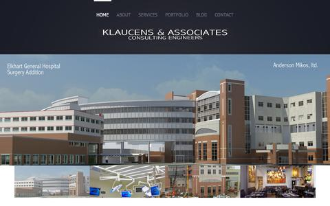 Screenshot of Home Page klaucens.com - Klaucens & Associates, Inc. - captured Oct. 11, 2015