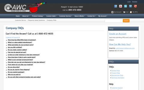 Medium traffic Manufacturing Desktop FAQ Pages | Website Inspiration ...