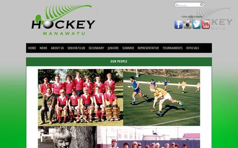 Screenshot of Team Page hockeymanawatu.org.nz - Hockey NZ Association Website - Hockey Manawatu > News > Our People - captured June 15, 2016