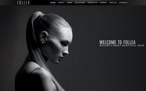 Screenshot of Home Page follea.com - FOLLEA :: European Hair for Hair Loss - captured Jan. 24, 2015