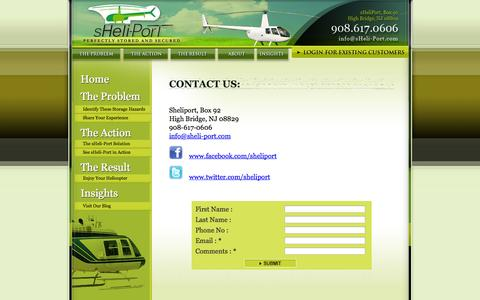 Screenshot of Contact Page sheli-port.com - Contact Us- Sheliport - captured Oct. 26, 2014