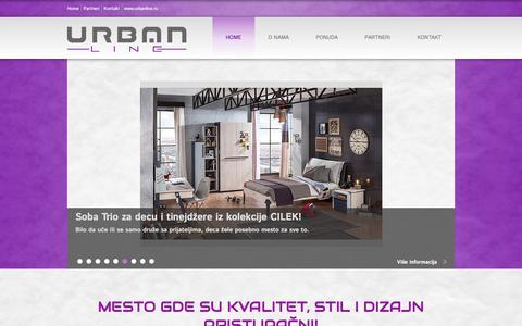 Screenshot of Home Page urbanline.rs - Mesto gde su kvalitet, stil i dizajn pristupačni | Salon nameštaja Urbanline - captured July 27, 2018
