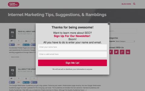 SEO Blog, Search Engine Optimization Blog - SEO Inc Blog