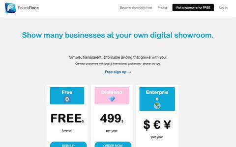 Screenshot of Pricing Page feedsfloor.com - Pricing | FeedsFloor - captured Aug. 13, 2018
