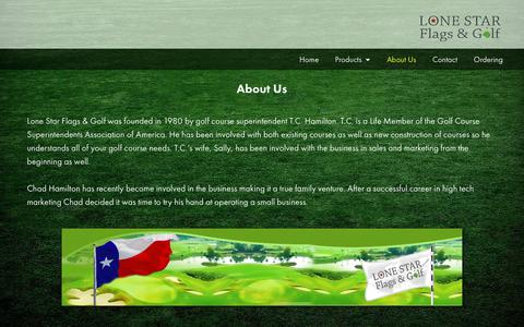Screenshot of About Page lonestargolfflag.com - About Us - Lone Star Flags & Golf - captured Sept. 30, 2018