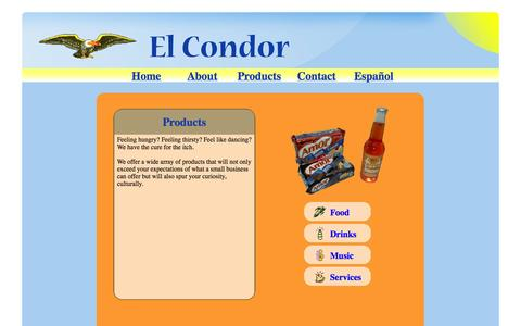 Screenshot of Products Page elcondorchicago.com - Latin American Products, Foods From Latin America - captured Oct. 2, 2014