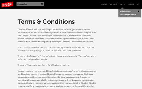 Terms and conditions - HD stock video footage for today's visual storyteller - Dissolve