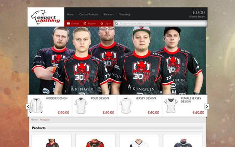 Screenshot of Products Page esportclothing.com - Products Archives - Esportclothing - captured Jan. 23, 2016