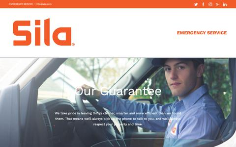 Screenshot of Home Page sila.com - Sila – Heating and Air conditioning - captured Jan. 21, 2019
