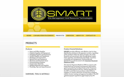 Screenshot of Products Page smartllc.us - Site Management And Resource Technologies (SMART) LLC - PRODUCTS - captured Oct. 6, 2014