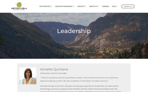Screenshot of Team Page istonish.com - Leadership   Istonish - captured Sept. 20, 2018