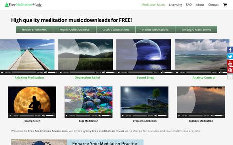 Screenshot of Home Page free-meditation-music.com - Free Meditation Music | High Quality Meditation Music Downloads for Free - captured Oct. 31, 2017