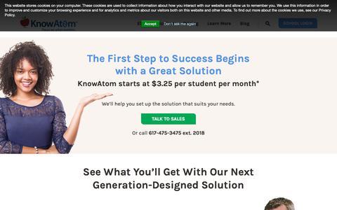 Screenshot of Pricing Page knowatom.com - Pricing   KnowAtom - captured Oct. 15, 2018