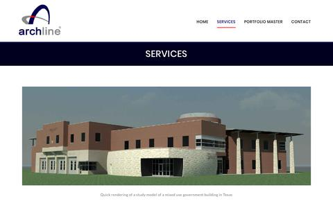 Screenshot of Services Page archline.com - Services - ARCHLINE - captured Oct. 8, 2017
