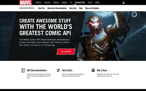 Marvel Developer Portal