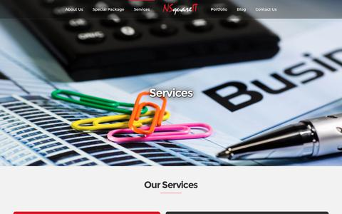 Screenshot of Services Page nsquareit.com - Services - Digital Marketing Agency, Ahmedabad, Gujarat, India - captured Oct. 19, 2018