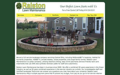 Screenshot of Home Page ralstonlawnmaintenance.com - Ralston Lawn Maintenance and Design, LLC   Central Ohio - captured Jan. 10, 2016
