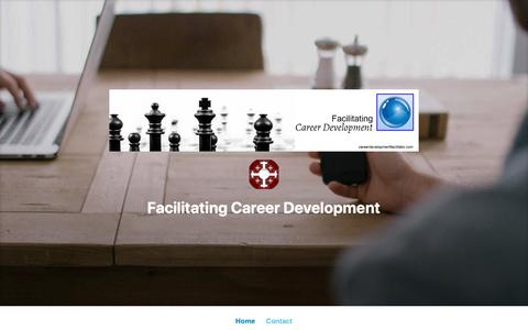 Screenshot of Contact Page wordpress.com - Contact – Facilitating Career Development - captured Oct. 27, 2018