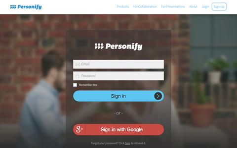 Screenshot of Login Page personifyinc.com - Log in | Personify - captured June 16, 2015