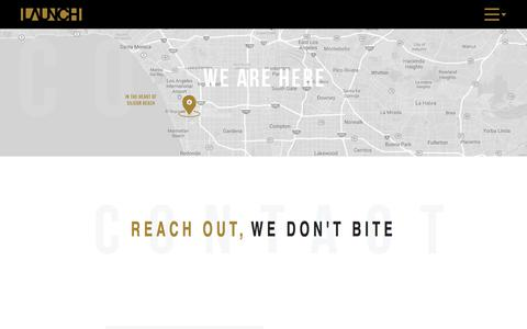 Screenshot of Contact Page launchdrtv.com - Contact Launch DRTV | Direct Response Marketing Agency in Los Angeles - captured Sept. 18, 2019
