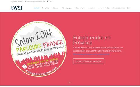Screenshot of Home Page wsi-franchise.fr - WSI - Franchise B2B - Devenez consultant en digital - captured Oct. 7, 2014