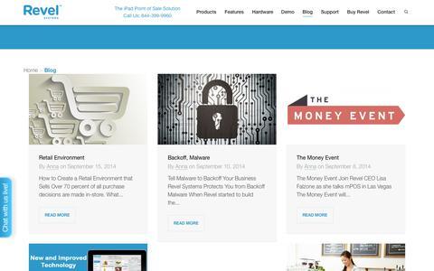 Screenshot of Blog revelup.com - Blog - Revel Systems - iPad POS System - captured Sept. 17, 2014