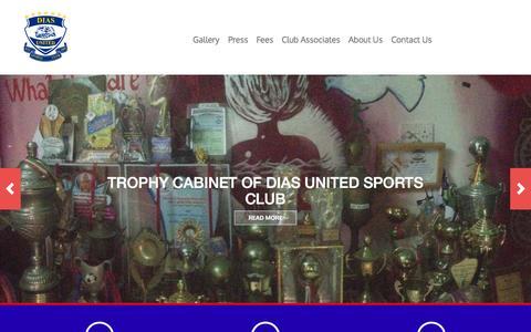 Screenshot of Home Page diasunited.com - Dias United | Dias United Sports Club - captured Jan. 24, 2015