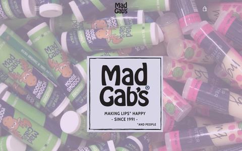 Screenshot of Home Page madgabs.com - Mad Gab's Inc – Mad Gab's Inc. - captured Dec. 4, 2018