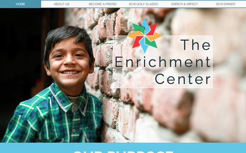 Screenshot of Home Page theenrichmentcenter.org - The Enrichment Center - captured Dec. 13, 2018