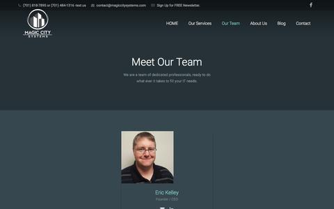 Screenshot of Team Page magiccitysystems.com - Meet Our Team - Magic City Systems - captured May 27, 2017