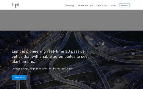 Screenshot of Home Page light.co - Light home |  Light - captured Aug. 20, 2019