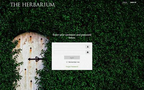 Screenshot of Login Page herbalacademyofne.com - Login | The Herbarium - captured Jan. 28, 2016