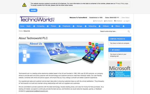 Screenshot of About Page technoworld.com - About Us - captured Nov. 5, 2014