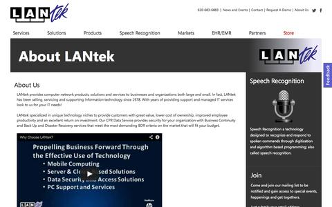 Screenshot of About Page lantekonline.com - About Us LANtek - captured Oct. 1, 2014