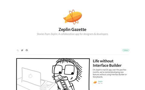 Screenshot of Blog zeplin.io - Zeplin Gazette - captured May 3, 2017