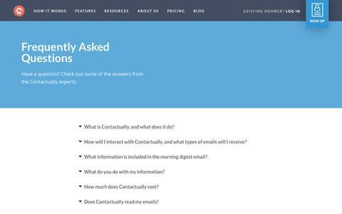 Screenshot of FAQ Page contactually.com - FAQ - Contactually Contactually - captured Nov. 18, 2015