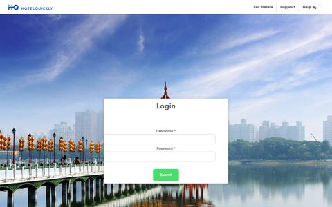 Screenshot of Login Page hotelquickly.com - Explore more deals with HotelQuickly - captured Oct. 16, 2017