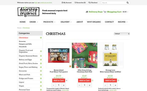 Screenshot of Products Page doorsteporganics.com.au - Christmas - captured Dec. 3, 2018