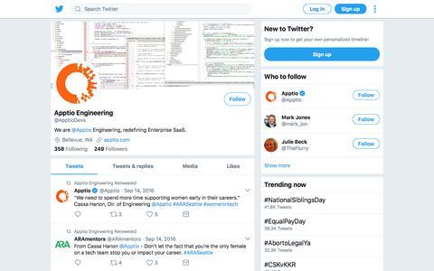 Tweets by Apptio Engineering (@ApptioDevs) – Twitter
