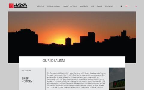 Screenshot of About Page jayaproperty.com - Jaya Real Property - captured Oct. 14, 2016